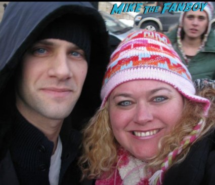 justin_bartha ellen_barkin fan photo signing autographs for fans hot sexy the new normal star rare