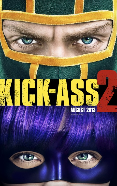 Kick ass 2 rare promo one sheet movie poster promo one sheet jim carry chloe grace moretz aaron johnson jim carrey