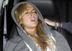 lindsay lohan drunk passed out in a car rare promo