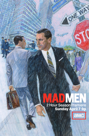 mad men season 6 key art rare promo don draper jon hamm amc season premiere season 6 mad men poster mm6-key-art-350