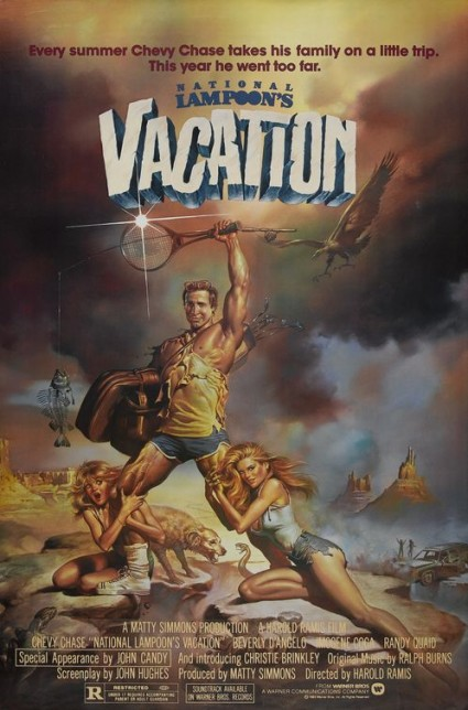 National Lampoon's vacation logo rare one sheet movie poster chevy chase beverly D'Angelo classic