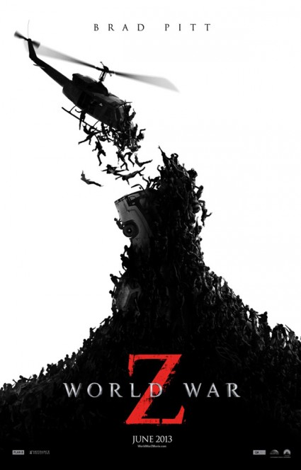 World War Z Movie poster one sheet logo rare brad pitt hot sexy zombie hot rare promo photo