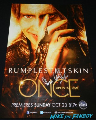 robert carlyle signed autograph once upon a time hope individual promo mini poster rare