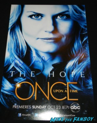jennifer morrison signed autograph once upon a time hope individual promo mini poster rare