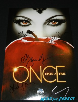 Colin O'Donoghue jennifer morrison josh dallas ginnifer goodwin lana parrilla signed autograph once upon a time hope individual promo mini poster rare