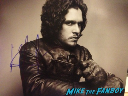 Kit Harington signed autographs rare  signing autographs at Game of Thrones the Exhibition in new york city rare promo hot rare