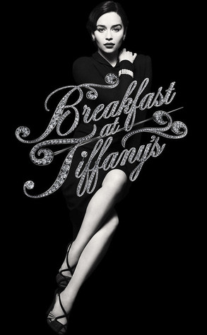 Breakfast at tiffany's EMILIA CLARKE hot sexy promo poster rare