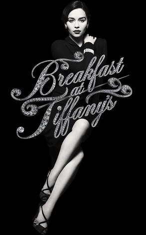 Breakfast at tiffany's EMILIA CLARKE hot sexy promo poster rare