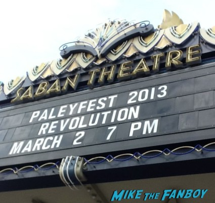 Paleyfest 2013! Revolution Panel! With JJ Abrams! Eric Kripke! JD Pardo! Billy Burke! Jon Favreau! Tracy Spiridakos! Giancarlo Esposito! Daniella Alonso! David Lyons! Autographs! Photos!