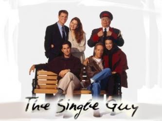 the single guy rare press photo logo nbc promo hot jonathan silverman cast photo