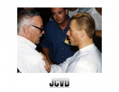 Jean-Claude Van Damme facebook page photo with stan lee rare