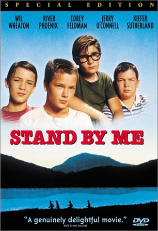 stand-by-me-poster one sheet movie poster rare dvd cover rare wil wheaton jerry o'connell river phoenix