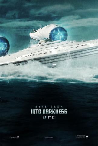 Star trek into darkness movie poster new uss enterprise submerged rising alien ocean rare promo hot