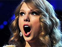 Taylor Swift Surprise face at the grammy awards when winning an award mouth open rare