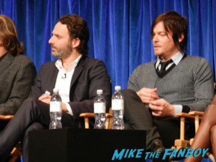 andrew lincoln and norman reedus at the walking dead paleyfest 2013 panel signing autographs norman 020