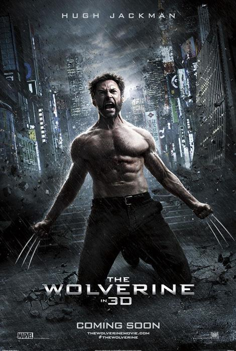 hugh jackman shirtless hot sexy naked wolverine hugh jackman promo poster claws new-poster-arrives-for-the-wolverine-130899-a-1364203132-470-75