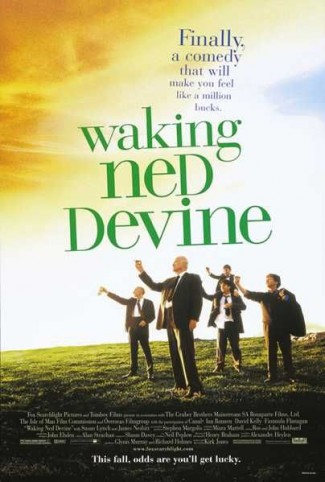waking_ned_devine rare promo one sheet movie poster promo irish folk tale