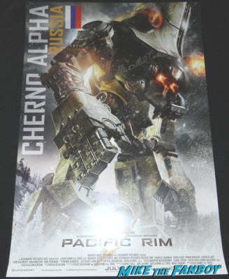 Guillermo del Toro  signed autograph pacific rim promo mini poster wondercon 2013 cosplay costumes convention floor rare 058
