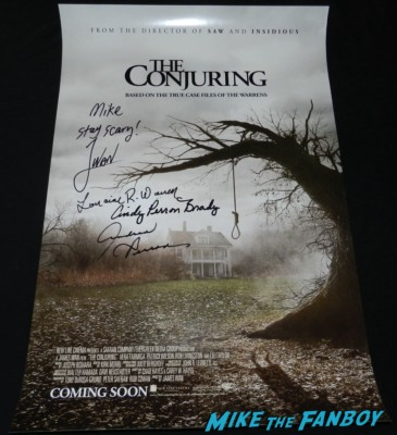 the conjuring  signed autograph pacific rim promo mini poster wondercon 2013 cosplay costumes convention floor rare 058