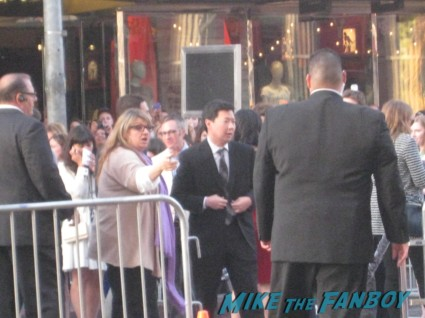 ken jeong arriving at the pain and gain movie premiere with marky mark wahlberg signed autograph rare promo hot