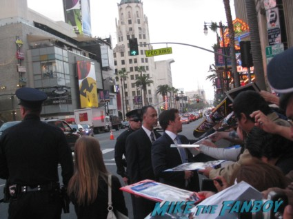 Marky Mark Wahlberg signing autographs  at the pain and gain movie premiere with marky mark wahlberg signed autograph rare promo hot