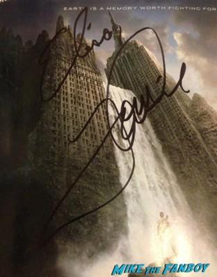 tom cruise autograph signed oblivion rare promo movie poster promo hot Tom Cruise fan photo signing autographs for fans rare promo hot Tom Cruise Oblivion q and a new york hot sexy rare risky business star promo hot joseph kosinski