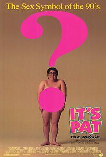 It's pat movie poster one sheet rare julia sweeney rare gender neutral