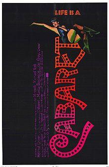 cabaret rare promo one sheet movie poster promo cabaret title logo rare new broadway revival hot promo