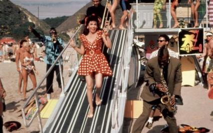 annette funicello press promo still back to the beach annette Funicello frankie avalon back to the beach movie poster rare bob denver rare promo Annette Funicello, members of Fishbone, 1987, (c)Paramount