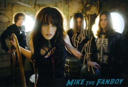 Halestorm signed autograph photo rare band signed autograph rare promo LZZY Hale Joe Hottinger  Halestorm  Halestorm fan photo signing autographs for fans B-Mart  Arejay Hale hot sexy rare