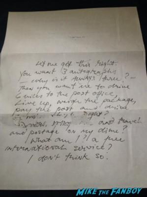 Richard Griffiths signed autograph fan letter fanmail rare promo rude mean autograph signed signing autographs rare promo