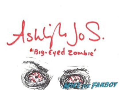 Ashley Jo Sizemore signed autograph rare promo the walking dead zombie