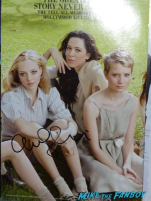 Amanda Seyfried signed autograph rare promo Analeigh Tipton fan photo signing autographs for fans