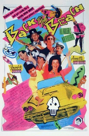 back to the beach movie poster rare annette funicello frankie avalon Back_to_the_Beach_film_poster Annette Funicello, members of Fishbone, 1987, (c)Paramount