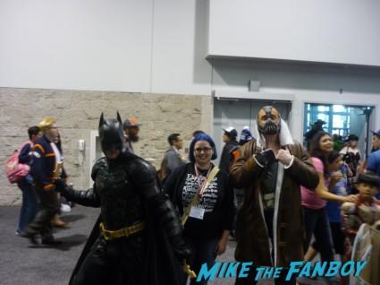 Batman and Bane cosplay costumes wondercon 2013 rare promo hot rare