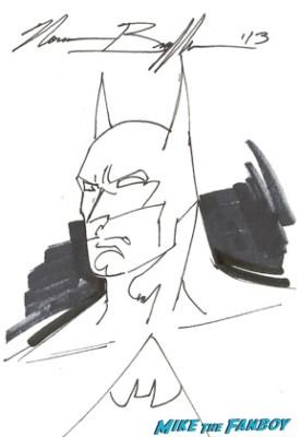 Norman Breyfogle batman sketch rare promo dark knight hand drawn sketch autographs signed