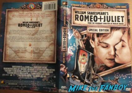 claire danes signed autograph signature rare romeo and juliet dvd cover rare