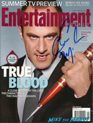 Christopher Meloni signed autograph entertainment weekly magazine hot sexy true blood photo Christopher Meloni signing autographs for fans hot sexy 42 wold movie premiere rare true blood star hot
