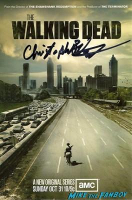 Chris Vogt signed autograph the walking dead mini poster rare