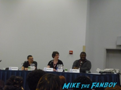 Crime Fiction panel at wondercon 2013 Crime Fiction with authors Stephen Blackmoore, Dana Cameron and Gary Phillips