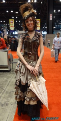 c2e2 cosplayers 2013 steam punk outfit rare hot top hat