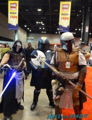 c2e2 cosplayers 2013 boba fetts star wars promo