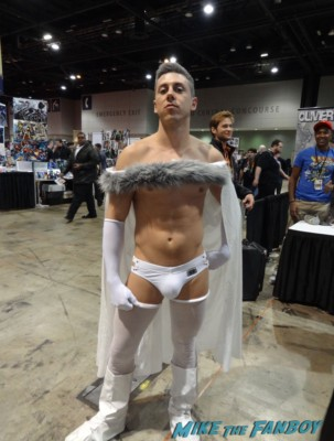 c2e2 cosplayers 2013 naked shirtless man costume chicago comic expo rare