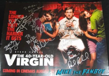 romany malco steve carrell signed autograph 40 year old virgin promo uk quad mini poster
