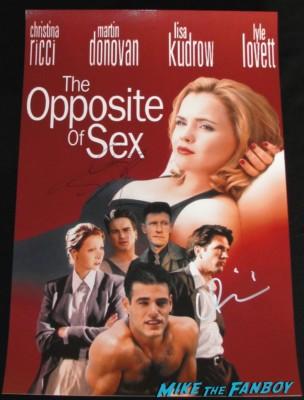 christina ricci signed autograph the opposite of sex promo movie poster rare hot lisa kudrow johnny galecki