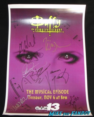 Michelle Trachtenberg signed autograph buffy the vampire slayer season 6 musical poster signing autographs for fans hot sexy dawn summers buffy the vampire slayer