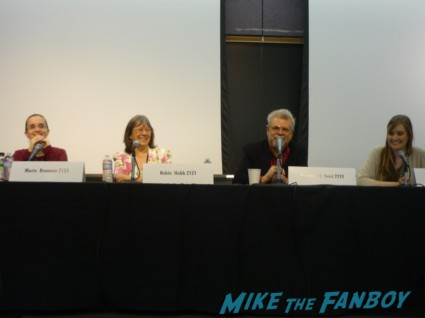 Dragon Panel at the los angeles times festival of books Here Be Dragons with Marie Brennan, Robin Hobb and Raymond E.Feist