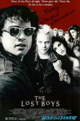 Ed Herrmann signed autograph the lost boys rare promo signed autograph movie poster rare promo hot