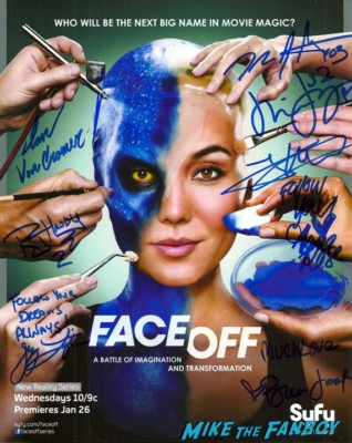 Face Off signed autograph promo poster The Face Off Booth at Days of the dead 2013