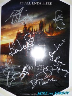 Harry Potter signed autogaph movie poster rare Hans Zimmer signing autographs for fans fan photo signing autographs for fansPoster